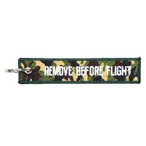Breloc REMOVE BEFORE FLIGHT Camuflaj