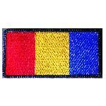 Ecuson Brodat Tricolor Romania