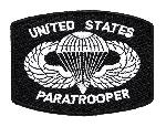 Ecuson Brodat US Paratrooper