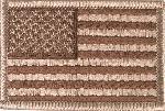 Ecuson Steag US pentru Camuflaj Desert