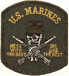 Ecuson US Marines fara Velcro