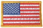 Emblema Steag US, Stanga