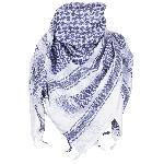Esarfa Arab Shemagh, Alb cu Albastru