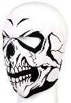 Masca de Fata Completa Craniu Alb