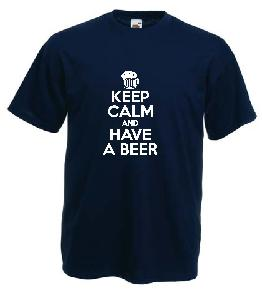 Tricou imprimat Keep Calm Beer